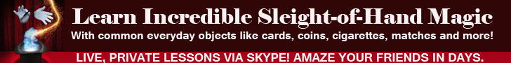 learn sleight of hand magic private lessons close up magic skype